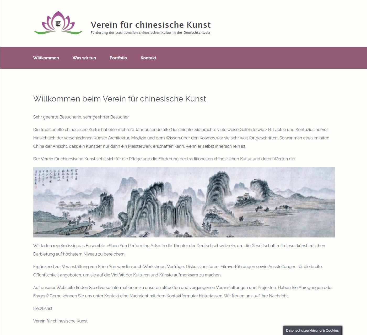 Verein für chinesische Kunst - Förderung der Traditionellen chinesischen Kultur in der Deutschschweiz