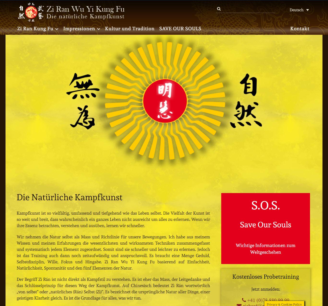 Zi Ran Kung Fu - die Natürliche Kampfkunst